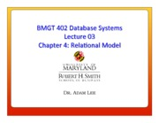 Lecture 03 - Relational Model