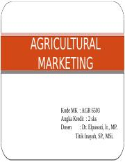 AGRICULTURAL MARKETING (2)