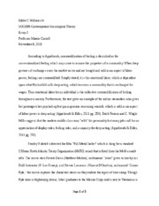 Eddie Williams_SOCI305_Essay 2_Commodification of feeling.docx