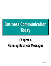 Ch4.PlanningBusinessMessages