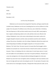 English Test 2 essay questions