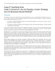 cash connection are its payday lender strategy and is business model ethical Cash connection essay submitted by: that cash connection's strategy and business model are ethical connection's strategy and business model are ethical.