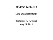 EE4353_Lecture_2_Review_Long_Channel_MOSFET
