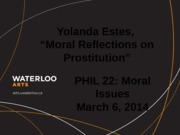 Phil 220 Moral Reflections on Prostitution