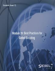 39ESS_Best Practices for Siebel Scripting .ppt