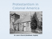 Intro to Protestantism - Anglicans and Puritans D2L
