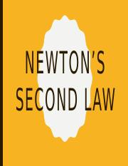 02 - Newton's Second Law.pptx