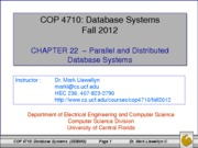 chapter 22 - distributed database systems