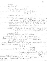 Lecture 2 on Properties of the Cross Product
