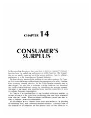 14 Consunmer's Surplus