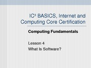 Computing Fundamentals Lesson 04