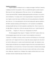 maya angelous essay graduation Graduation by maya angelou critique - writing essay example danielle davis eileen thompson english 121 sl may 9, 2012.