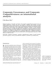 Corporate governance and corporate competitiveness- An international analysis.pdf