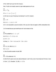 Final Exam F2011 Answers