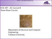 ECE 307 AC Lecture 8 - Three-Phase