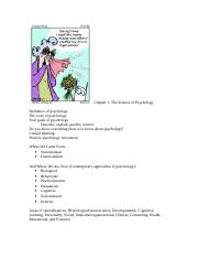 Chapter 1- The Science of Psychology Outline.doc