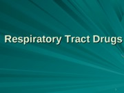 respiratory tract drugs-pharm