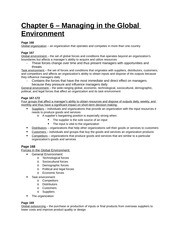 Study Guide - Chapter 6 - Managing in the GLobal Environment