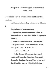 ATOC 1050 chapter 2 notes