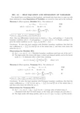 math 386- heat equations and seperation of variables