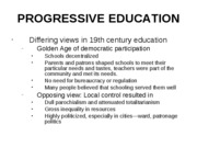 PROGRESSIVE EDUCATION w05