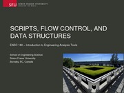 ENSC180 LECTURE 02 Scripts, Flow and Control Dr Ivan Bajic