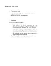 Lecture 6 Notes Access Methods