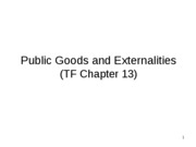 Week 11 Public Goods and Externalities