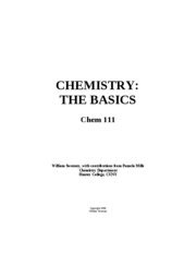 Chemistry - The basics