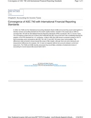 6-7 Convergence of ASC 740 with International Financial Reporting Standards