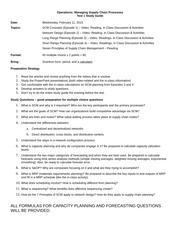 Test 1 Study Guide - Spring 2015