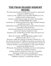 THE PRAM SHARED-MEMORY MODEL