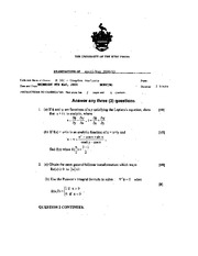 Complex Analysis May 2001 Final Exam