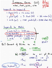 Imperial Units Notes