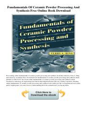 fundamentals-of-ceramic-powder-processing-and-synthesis-free-online-book-download