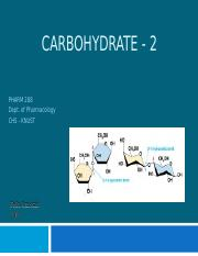 Carbohydrate 2