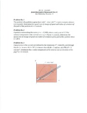 Solutions for Joint Kinematics HW Set #11