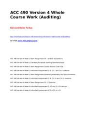 ACC 490 Version 4 Whole Course Work (Auditing).doc