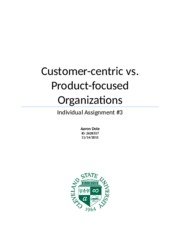 Customer-centric vs. Product-focused