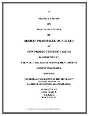 AKSHAR PHARMA (new product testing system)