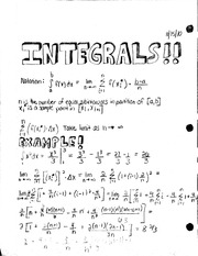 Integral Type Notes