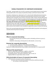 CORPORATE DOWNSIZING sample- tutorial 9 .docx
