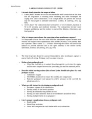 L&D Study Guide & Terms Sheet