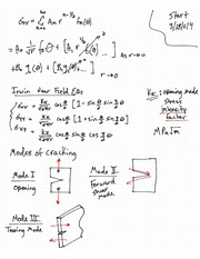 Advanced Mechanics of Materials - Modes of Cracking