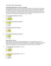 Exam 3 Fall 2012 Solutions