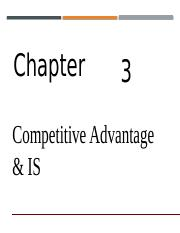 10_Competitive Advantage and IS