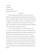 English-Chaucer essay