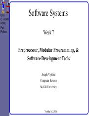 COMP 206 Lecture Week 7 - PreProc + Modules + Tools.pdf