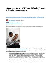 Symptoms of Poor Workplace Communication
