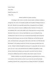 Research Paper Catcher in the Rye